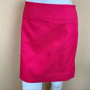 Talbots textured fuscia pink pencil skirt NEW